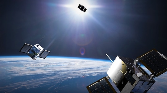 HawkEye 360 aims to make invisible radio communications visible with its emission-detecting satellites. (HawkEye 360)