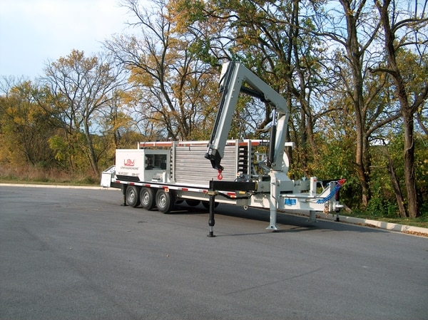 U.S. Army units required a deployable capability to quickly produce durable steel buildings in austere environments. In response, the Rapid Equipping Force provided a small-scale, self-contained, trailer-mounted manufacturing factory. (U.S. Army)