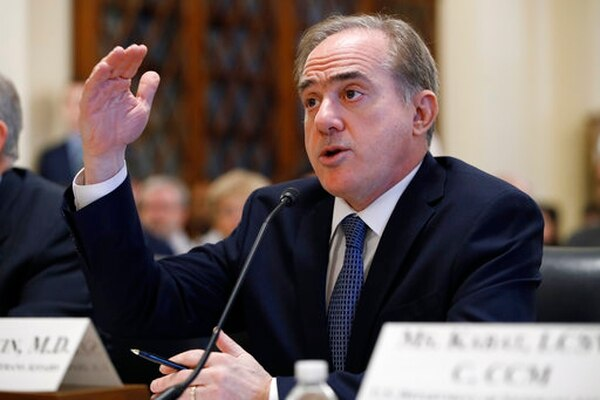 Veterans Affairs Secretary David Shulkin speaks during a House Veterans' Affairs Committee hearing on veteran caregiver support on Feb. 6, 2018. (Jacquelyn Martin/AP)