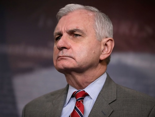 Sen. Jack Reed, D-R.I., at a news conference at the U.S. Capitol March 22, 2018. (Photo by Chip Somodevilla/Getty Images)