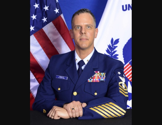 Command Master Chief Brett VerHulst resigned his position as senior enlisted leader of the U.S. Coast Guard Academy in April. (Coast Guard)