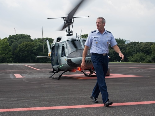 U.S. Air Force Gen. Terrence J. O'Shaughnessy, Pacific Air Forces commander, arrives in Tokyo, Japan. O'Shaughnessy is the leading candidate to take over U.S. Pacific Command. (Kyle Johnson/U.S. Air Force)