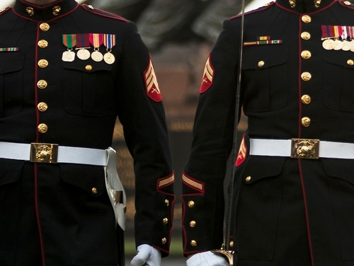 A Marine veteran donated a pair of dress blues so another Marine vet could be buried in them. (Lance Cpl. Dan Hosack/USMC)