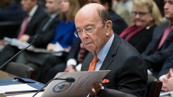 Commerce Secretary Wilbur Ross appears before the House Committee on Oversight and Government Reform to discuss preparing for the 2020 Census, on Capitol Hill in Washington, Thursday, Oct. 12, 2017. (J. Scott Applewhite/AP)