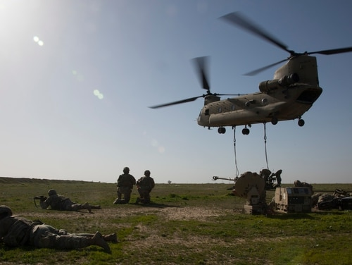 The Army is piloting an effort called Expeditionary Signal Battalion-Enhanced, designed to provide more mobile communications gear. (Spc. Eric Cerami/Army)