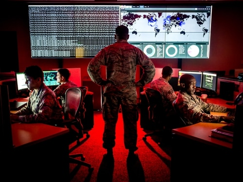 24th and 25th Air Force will integrate, creating the service's first information warfare numbered Air Force. (J.M. Eddins Jr./Air Force)