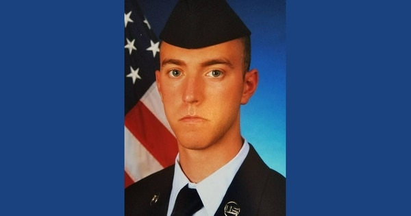 Airman 1st Class Bradley Hale was killed while on a deployment to Guam in March 2018. His roommate, A1C Isaiah Edwards was found guilty Thursday of unpremeditated murder during a court-martial. (Air Force)