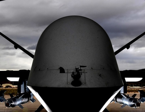 An MQ-9 Reaper, like the one shown here, was used to kill Iranian Gen. Qassem Soleimani. (Senior Airman Christian Clausen/U.S. Air Force)