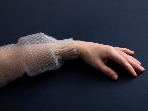 Researchers at the Army's Institute for Soldier Nanotechnologies at the Massachusetts Institute of Technology develop the first fiber with digital capabilities. The fiber can sense, store, analyze, and infer activity when sewn into a piece of clothing. (MIT via Army)