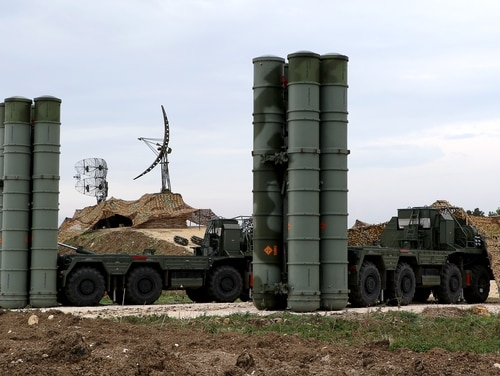 Turkey announced its choice to buy the Russian S-400 in September, but is yet to sign final paperwork on the deal. (Paul Gypteau/AFP via Getty Images)