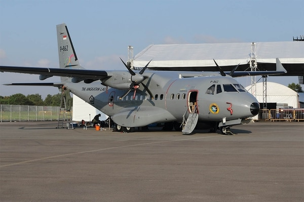 Indonesia operates CASA/IPTN CN-235 aircraft. (Mike Yeo/Staff)