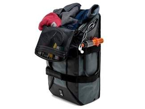 If you need to pack along some extra gear, or simply plan to take an adventure on foot after you park the bike, you'll need a backpack with elevated organizational abilities to make the best of the limited space on your body or motorcycle. (Chrome Industries)