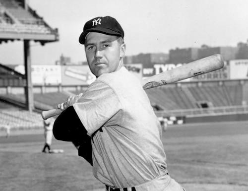 New York Yankees third baseman Bobby Brown poses at Yankee Stadium in New York, in this Oct. 2, 1950, file photo. (AP Photo)