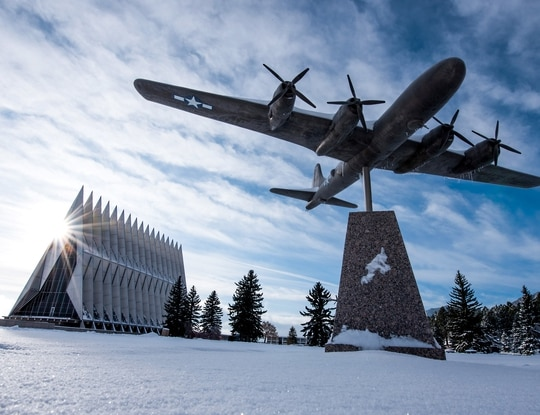 A cadet at the U.S. Air Force Academy was found dead Thursday morning, an academy spokesman confirmed. (Trevor Cokley/Air Force)