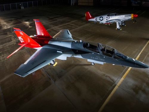 The Air Force named its next-generation training jet the T-7A Red Hawk to pay tribute to the Tuskegee Airmen, the first black military aviators who flew during World War II as part of the Army Air Corps, the precursor to the U.S. Air Force. (Boeing)