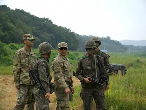 The removal of U.S. troops from South Korea has been a condition of past negotiations and officials are mixed on whether it is an option for upcoming talks. (Cpl. Charles Morrison/Army)