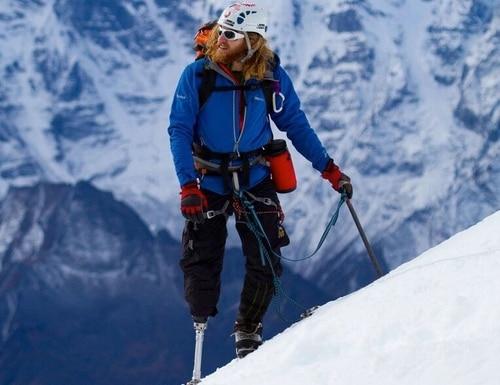 Chad Jukes Climbing Lobuche (20,000') in October 2010 For presto story # 82375432