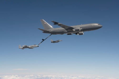 Boeing has said it will deliver the KC-46s in the second quarter of 2018, but the Air Force believes its schedule will slip. (John D. Parker/Boeing)