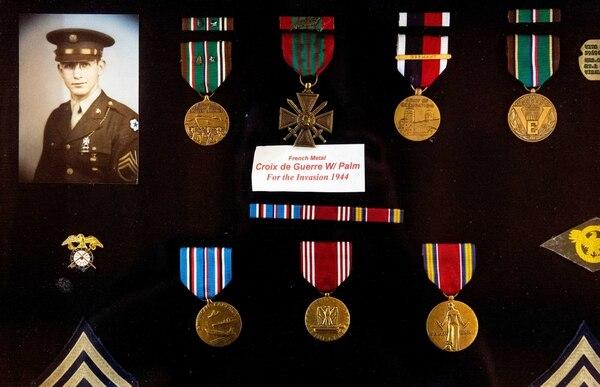 Tech. Sgt. Vito Mastrangelo, 95, member of the 607th Quartermaster Graves Registration Company. (Ron Holman/Visalia Times-Delta)