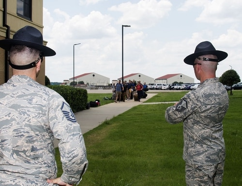 """The Air Force Officer Training School is preparing for the arrival of what it's calling the """"Godzilla"""" class, which will include 810 officer trainees. (Air Force)"""