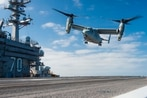 CMV-22 Osprey will deploy on Vinson with F-35C in 2021