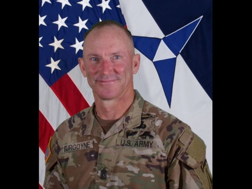 "Command Sgt. Maj. Arthur ""Cliff"" Burgoyne III was temporarily suspended Friday, pending an investigation into allegations against him. (Army)"