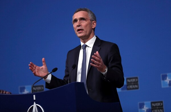 NATO Secretary General Jens Stoltenberg speaks during a media conference after a meeting of NATO foreign ministers at NATO headquarters in Brussels, Tuesday, Dec. 4, 2018. (Francisco Seco/AP)