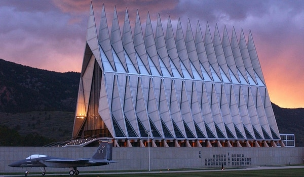 The Cadet Chapel at the Air Force Academy closed Jan. 1 for at least four years for necessary renovations and repairs. (Air Force Academy)