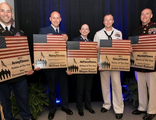 Last year's winners of the Military Times Service Members of the Year Awards (Staff photo).