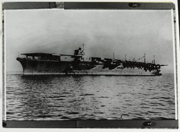 The Japanese aircraft carrier Zuikaku, photographed on Sept. 25, 1941, the day she was completed for service. (Courtesy of Mr. Kazutoshi Hando, U.S. Naval History and Heritage Command)