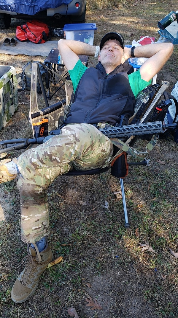 Gettin' tactical with the Nemo Stargaze Recliner Luxury Field edition. (Photo by Christian Lowe)