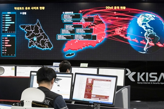 War with Russia or China anytime soon is unlikely, so where is the evolution of cyber conflict? (Yun Dong-jin/Yonhap via AP)