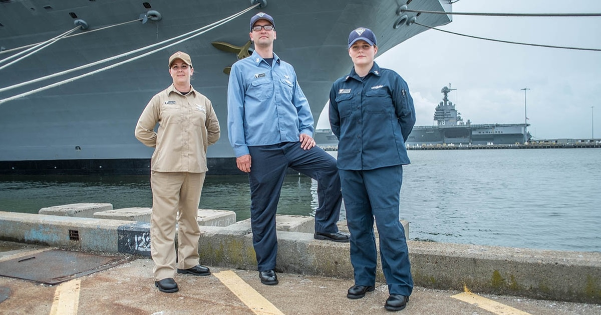 Take a look at the working uniforms the Navy is testing for