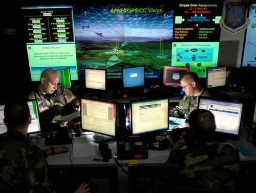 One of the biggest areas of progress in recent years for Cyber Command is the integration of cyber into traditional military operations. (U.S. Air Force photo/Tech. Sgt. Cecilio Ricardo)