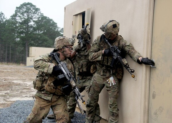 Soldiers with the 25th Infantry Division trying out the newest Improved Hot Weather Combat Uniform, which will be available starting in July at selection military clothing locations. (25th Infantry Division)