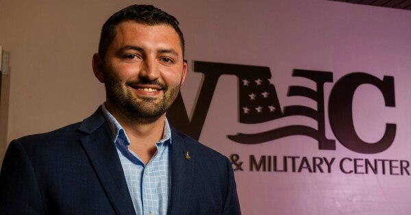"""It's nice knowing that people and companies understand what value we bring to the table,"" said Air Force veteran Jonathan Granata, a former student veteran who now works for Accenture. (Jonathan Granata)"