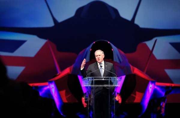 FORT WORTH, TX - JULY 19: Under Secretary of Defense for Acquisition, Technology and Logistics Frank Kendall addresses guests during the United Kingdom F-35 Lightning II Delivery Ceremony on July 19, 2012 at Lockheed Martin in Fort Worth, Texas. The ceremony marked the first international delivery of an F-35 Joint Strike Fighter to a partner nation. (Photo by Tom Pennington/Getty Images)