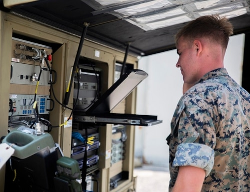 The Defense Information Systems Agency is looking for internet browsing to take place on a commercial cloud and away from Department of Defense servers. (Pfc. Mark Fike/Marines)