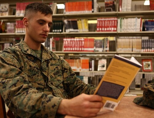 Grab a good book for yourself or someone on your holiday shopping list. (Lance Cpl. Rebecca Eller/Marine Corps)