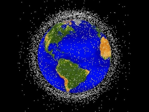 Space junk orbiting the Earth. (NASA image)