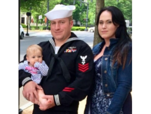 Former Machinist's Mate 1st Class Kristian Saucier, shown here during his time in the Navy, was pardoned by President Donald Trump on Friday after serving a year in prison for illegally photographing his work station aboard a submarine. (Courtesy photo)
