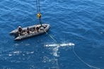 Submarine launches undersea drone in a 1st for Navy