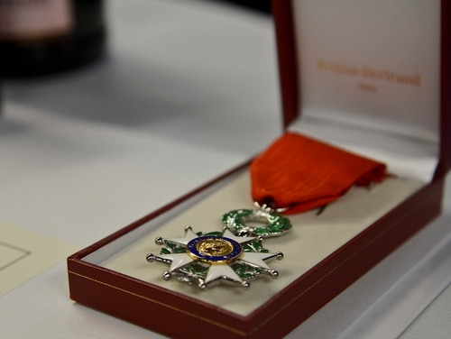 The French Legion D'Honneur is the highest decoration in France. (Air Force)