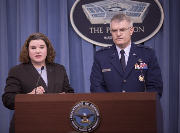 Officials conduct a briefing about the FY2017 budget at the Pentagon in Arlington, Va., on Tuesday, February 9, 2016. (Mike Morones/Staff)
