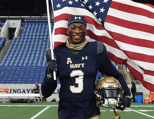 Camerson Kinley graduated as the Naval Academy's 2021 class president. (U.S. Navy)