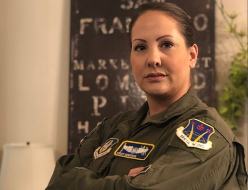 Senior Master Sgt. Genevieve, superintendent of the 926th Wing's 13th Reconnaissance Squadron, worked to get redesigned Operational Camouflage Pattern maternity uniforms back on the shelves in all AAFES stores. (Air Force)