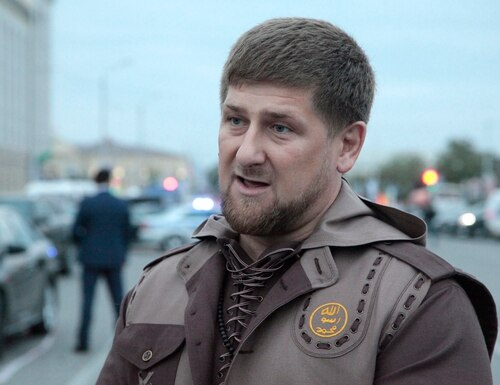 FILE - In this Oct. 5, 2014 file photo Chechen regional leader Ramzan Kadyrov talks with the press in the Chechen regional capital, Grozny, Russia. Ramzan Kadyrov's comments on Wednesday, April 22, 2015 send a worrying sign about a potential rift between him and the Kremlin. The head of Chechnya has allowed local security forces to open fire on federal troops if they operate in the region without his approval. (AP Photo/Musa Sadulayev, File)