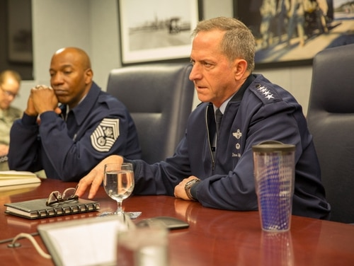 Gen. Dave Goldfein, the Air Force chief of staff, says he is concerned about morale at stateside bases. (Jeff Martin/staff)