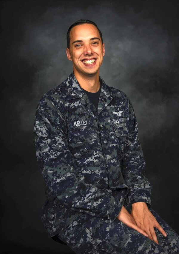 Yeoman 3rd Class Joshua Kelley is a sailor onboard the carrier Ronald Reagan. (MC3 Tyler D. John/Navy)