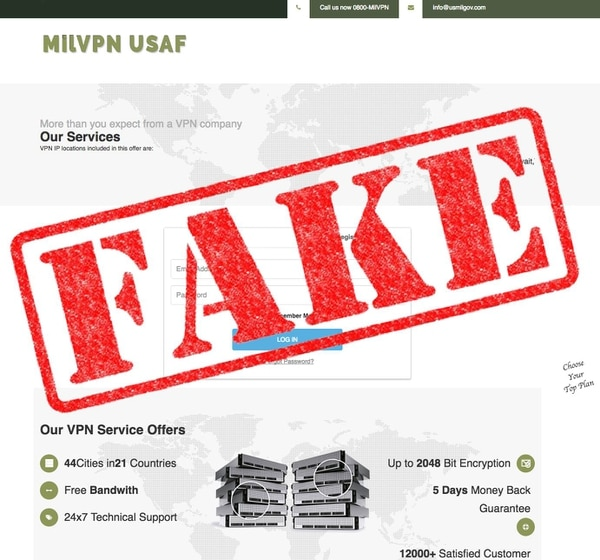 The scam website was soliciting payment from Army service members' loved ones. (Army)